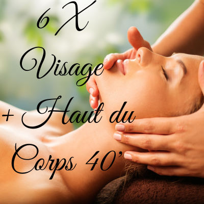 6 massages visage + haut du corps